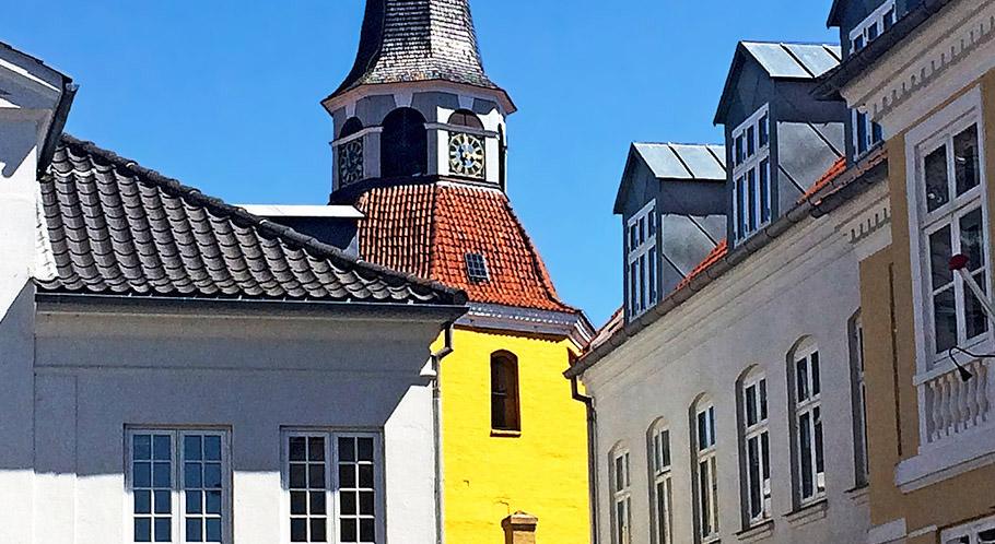 Faaborgs markantes Wahrzeichen – Glockenturm der ehemaligen Stadtkirche