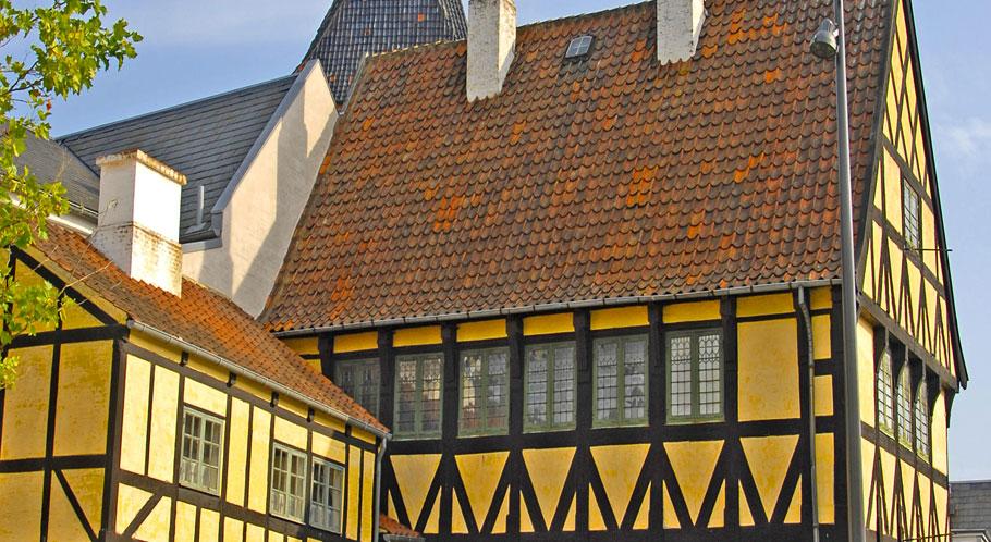 Fachwerkhaus in Svendborgs Altstadt nahe am Hafen
