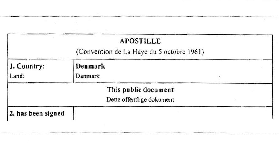 Eine Apostille bestätigt die letzte Unterschrift - nicht jedoch den Inhalt