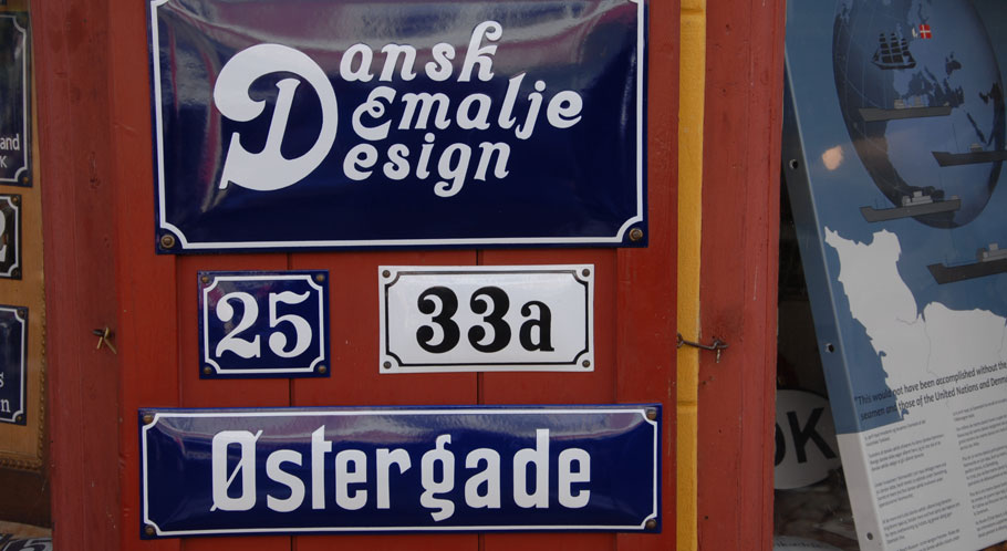 Wie wäre es mit einem individuell gefertigten Schild im Emaille-Design?