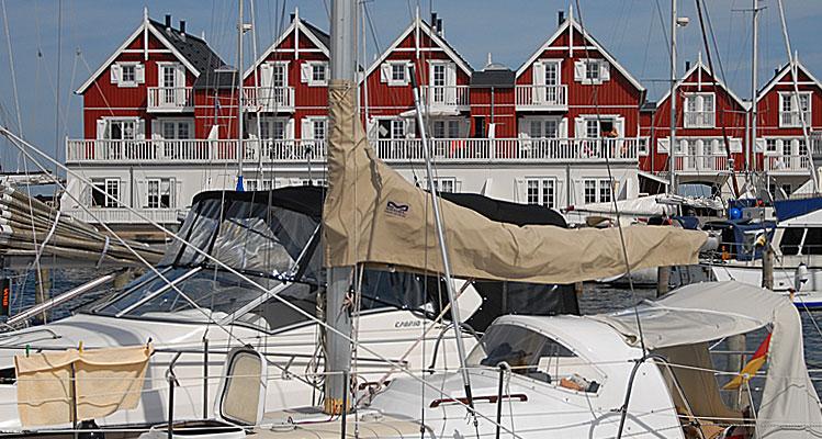 Sommerliches Ziel für viele Freizeitskipper: ein Yachthafen in der dänischen Südsee