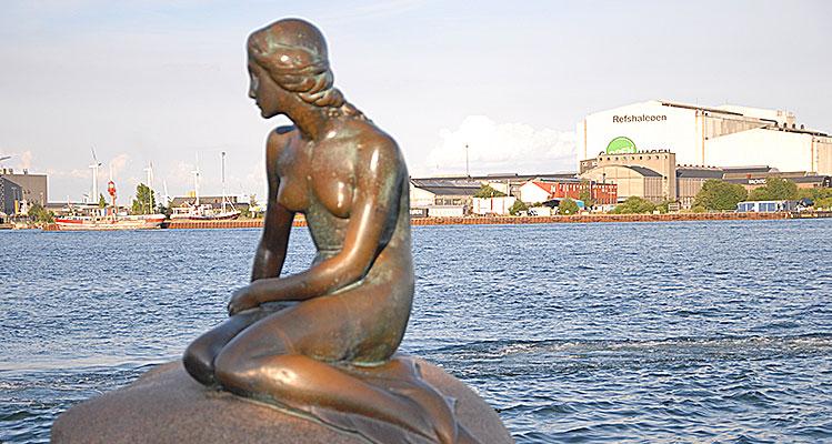 Kopenhagens Wahrzeichen: Statue der Kleinen Meerjungfrau