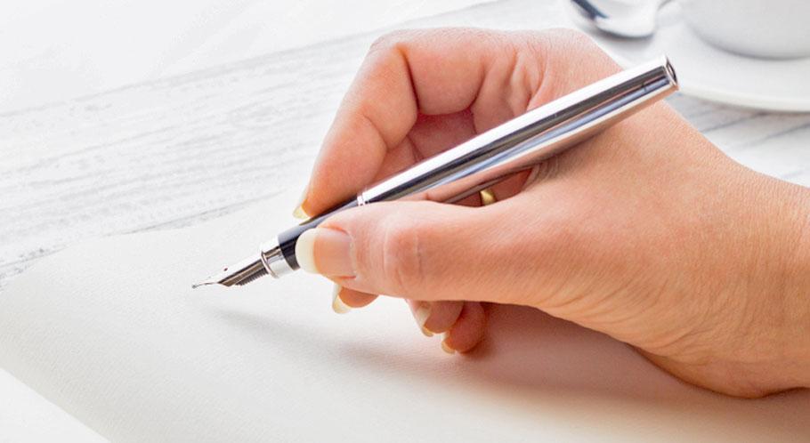 Unterschrift.jpg - Dokument mit dem Füller unterschreiben