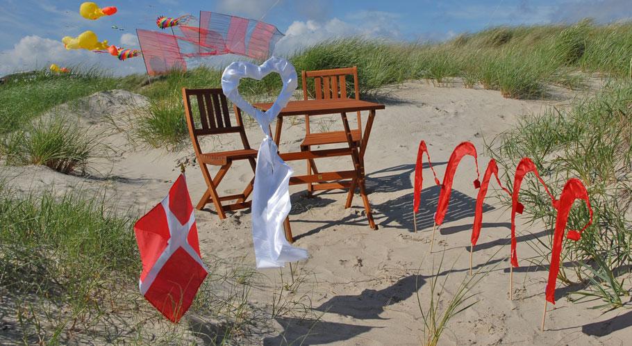 In den Dünen wartet ein lauschiges Plätzchen auf das Hochzeitspaar